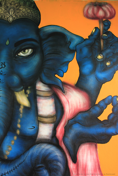 Royal Blue Ganesh, Lord of Good Fortune