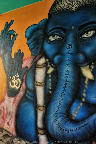 Blue Ganesh wall art