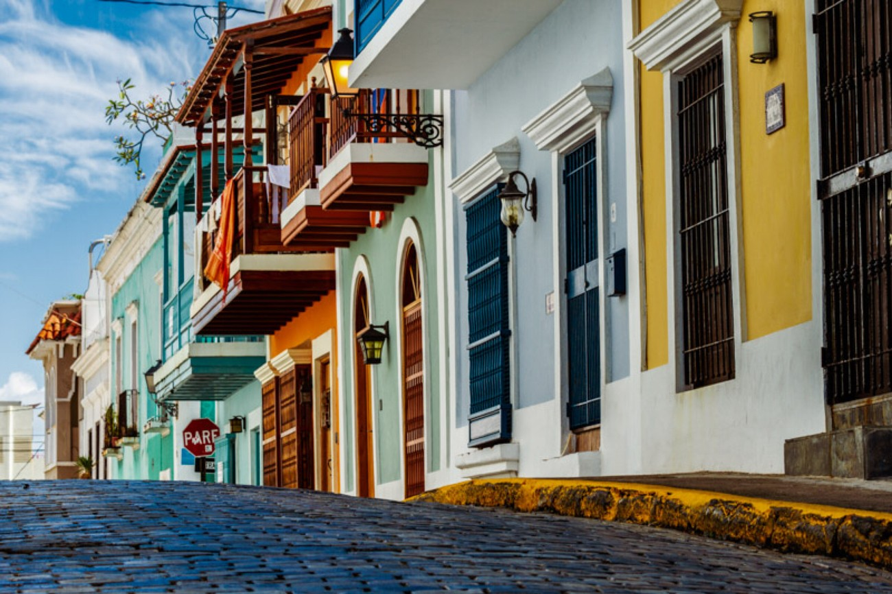 Colorful Street in Old San Juan P.R.