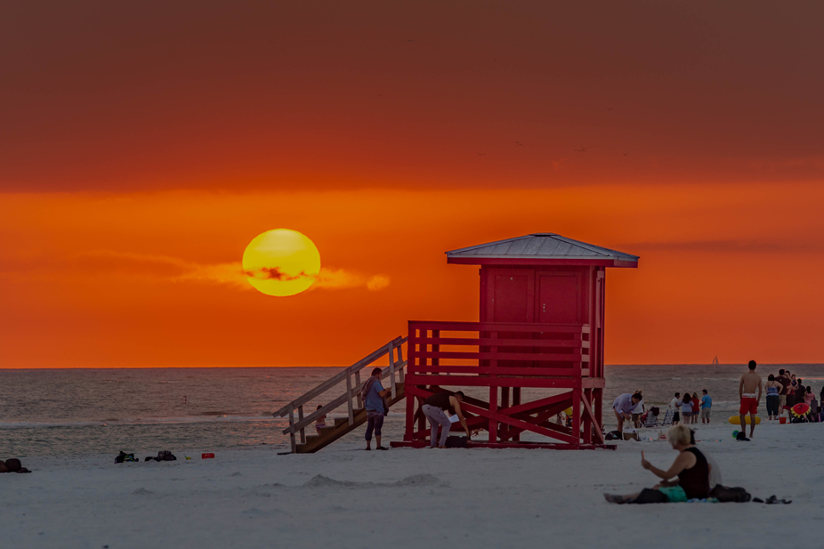 Tonights sunset at Siesta Key Beach Florida.