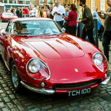 Ferrari 70th anniversary rally through Nottingham