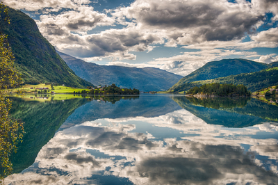 Spectacular Mirror Lake in Norway