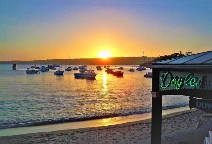 Sunset, Doyles restaurant Watsons Bay -