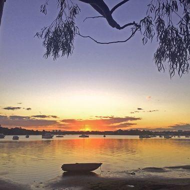 Sunset Drummoyne Bay Sydney Harbour