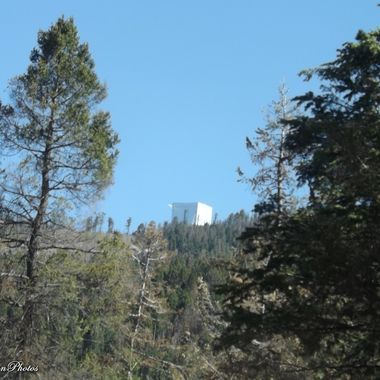 Mt Graham Observatory from Swift Trail
