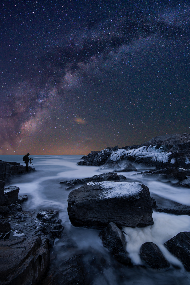 Midnight Photographer on Black Sea Coast by atanasdonev - Night Wonders Photo Contest