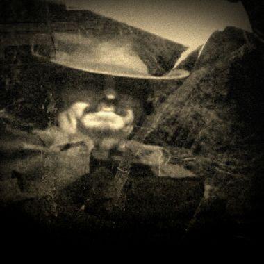 Home-made Vintage Western shot