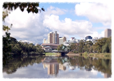 Adelaide Convention Centre on the Torrens River.