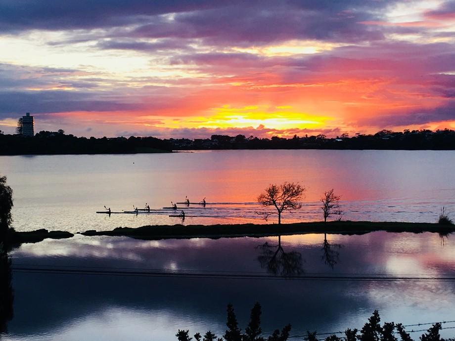 Morning reflections. Sunrise over Lake Pupeke, NZ. Captured pist night shift.