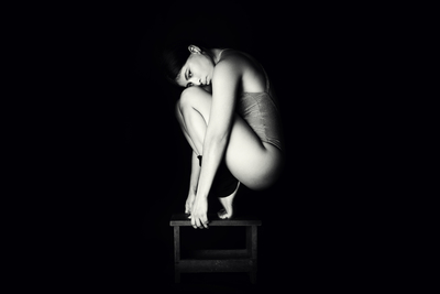 Alejandra - Studio Session in Black and White