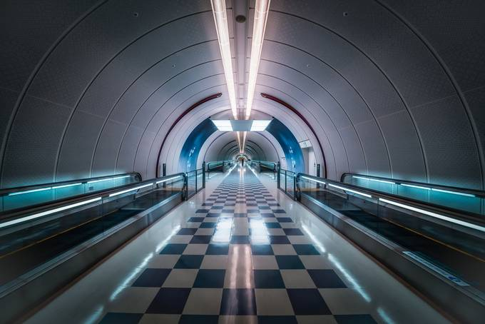Narita  Pedestrian Tunnel by SarahCaldwell - Stunning POV Photo Contest