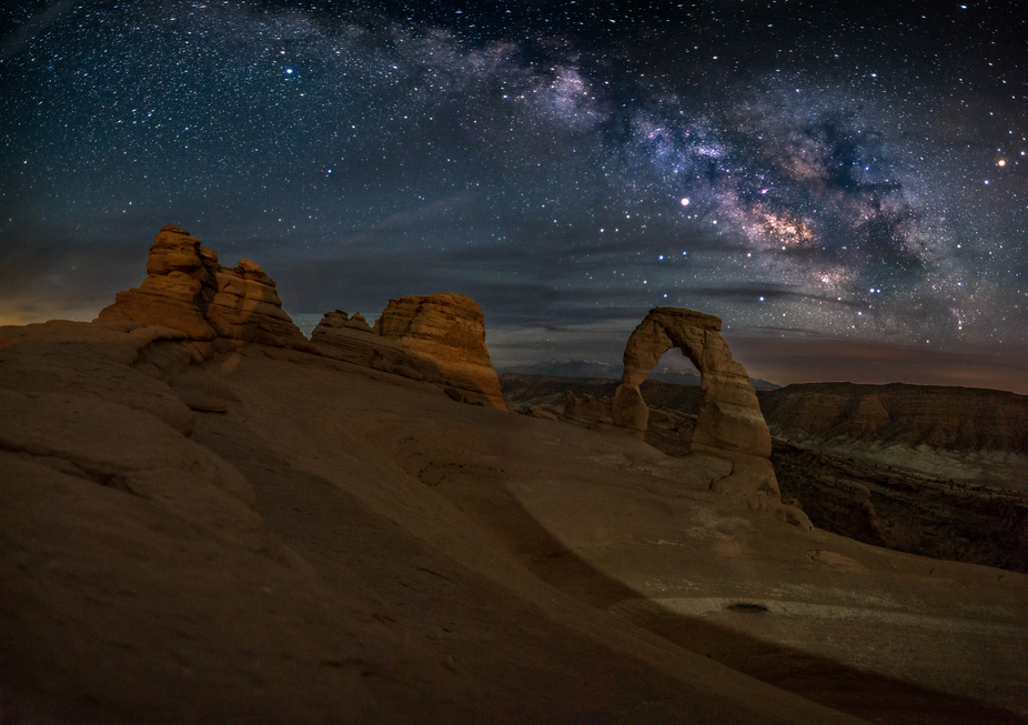 After the day had storms come through the area, we spent a few hours waiting for the milky-way to...