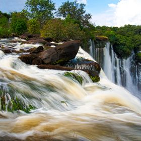 Impressive kalandula waterfall in Africa