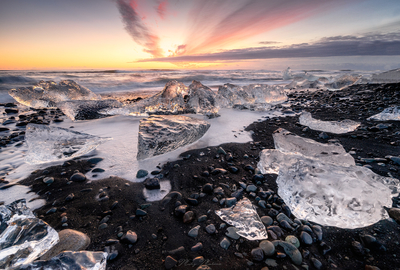 Ice sunrise
