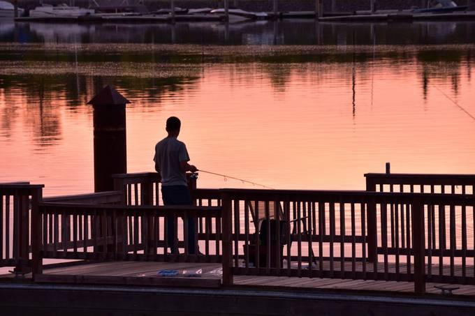 Sunset at the Voyageurs Nat'l Park Headquarters fishing pier! Nikon D3400 70-300 lens