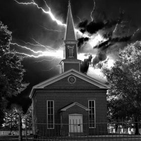 Mann Chapel Stormy Night