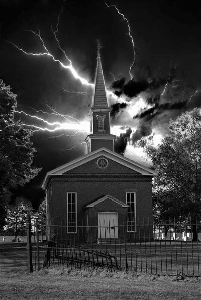 Mann Chapel Stormy Night