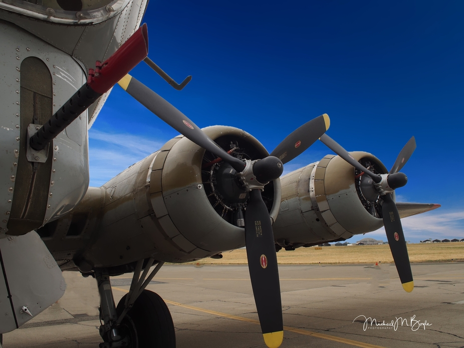 B-17 on the Flightline