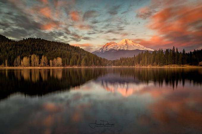 Mt Shasta reflection in Lake Siskiyou by frank_delargy - Spectacular Lakes Photo Contest