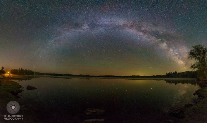 Lake Moxie Milky Way by briandrourr - Capture The Milky Way Photo Contest
