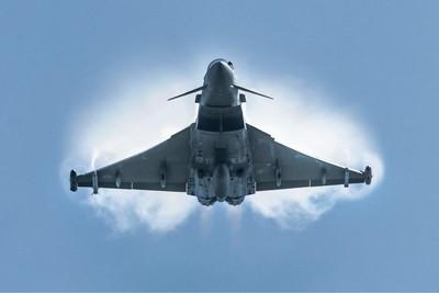 RAF Display Typhoon  24-5-18 ISP over RAF Scampton
