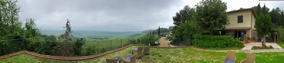 Panoramic from Pancole, Italy