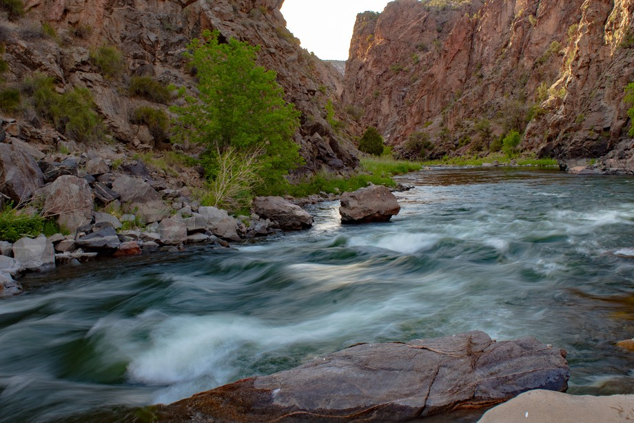 This was taken during a recent white water raft trip in the Gunnison Gorge on the Gunnison River in western Colorado. I joined 3 other photographers on a 3 day trip in the gorge with one of my favorite photographers, John Fielder. This is at the T-Dyke Campsite.