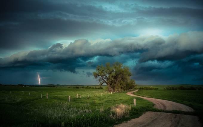 Distant Lightning Strikes by BonZeye - Creative Landscapes Photo Contest vol3