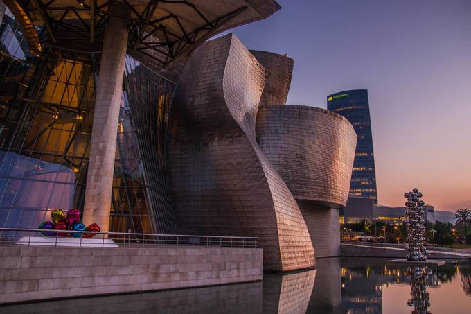 Guggenheim, Bilbao by jaeyongkim - Colorful And Bright Photo Contest
