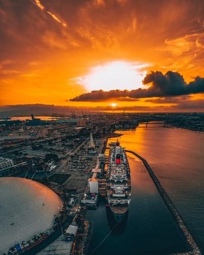 Sunset in Long Beach, CA