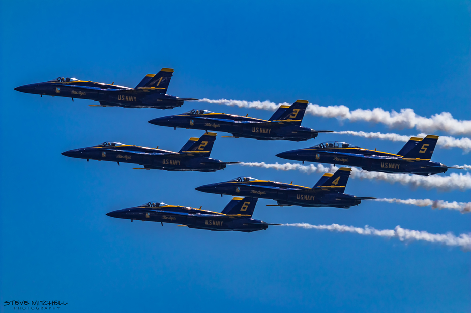 US Navy Blue Angels perform at the Jones Beach Airshow 2018, Jones Beach, Long Island, NY.