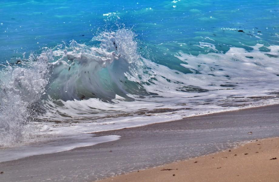 Lake Worth Beach, Florida watching the waves come ashore.