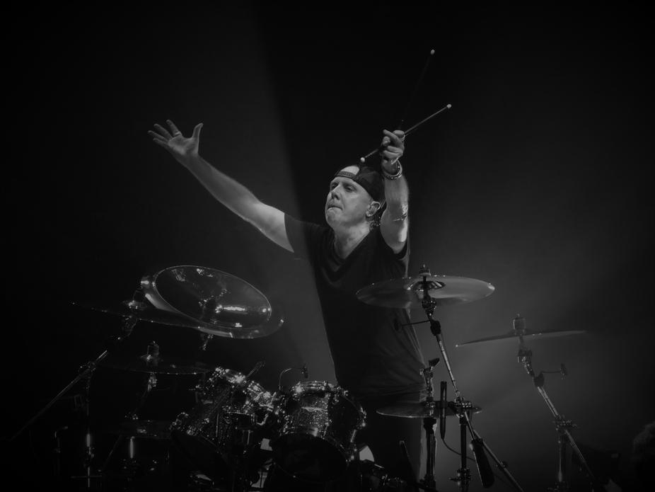 Metallica Lars Ulrich at Manchester Arena, England 2017