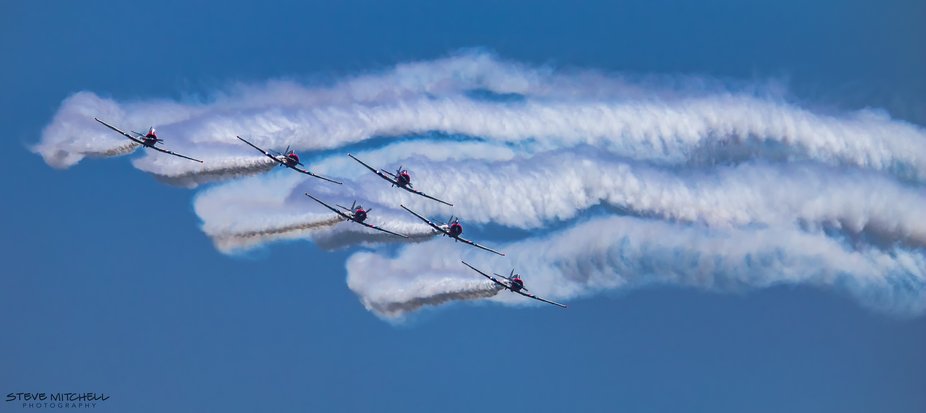 The Geico Skytypers at the Jones Beach Airshow. The GEICO Skytypers Air Show Team are an aerobati...