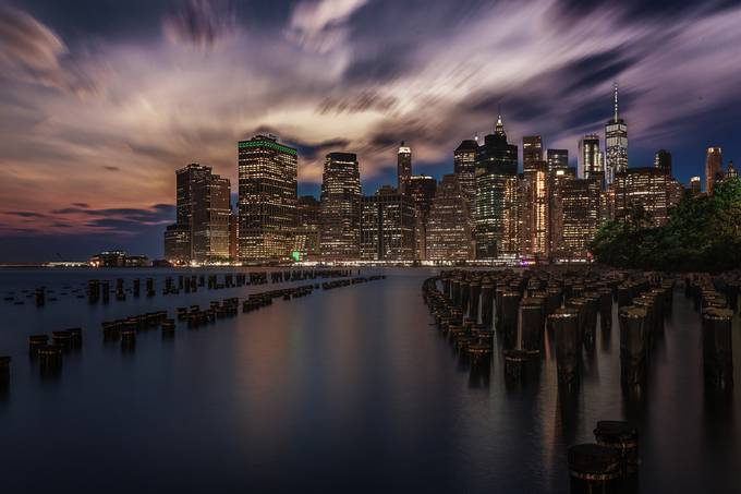 Drama over Manhattan by StefanLueger - The Moving Clouds Photo Contest