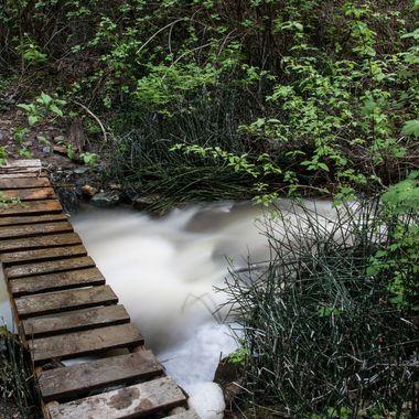 A bridge on the Godey Creek Trail