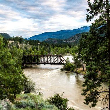 Nicola River and Spius Creek converge