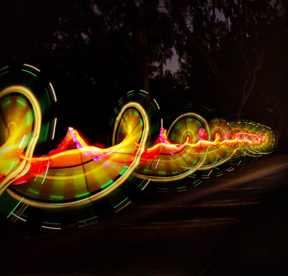 Light painting with a t8 tube