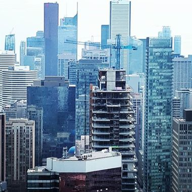 This image was taken from the south-facing terrace of the One Eighty Restaurant in Toronto, Ontario.