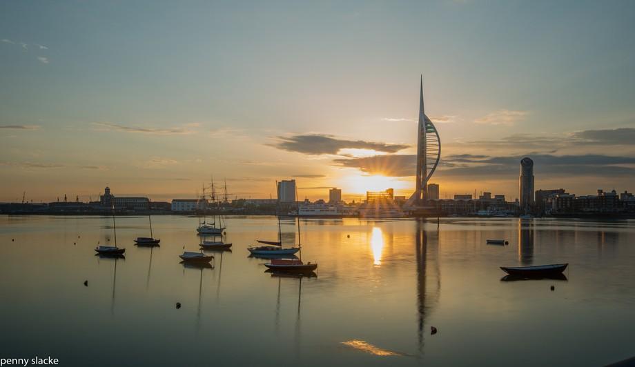 sunrise Portsmouth Harbour, England 28 May 2018-15