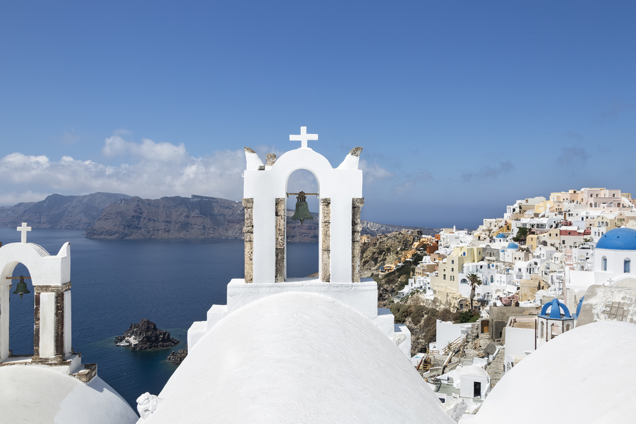 Santorini is an island in the southern Aegean Sea, about 120 miles southeast of Greece's...