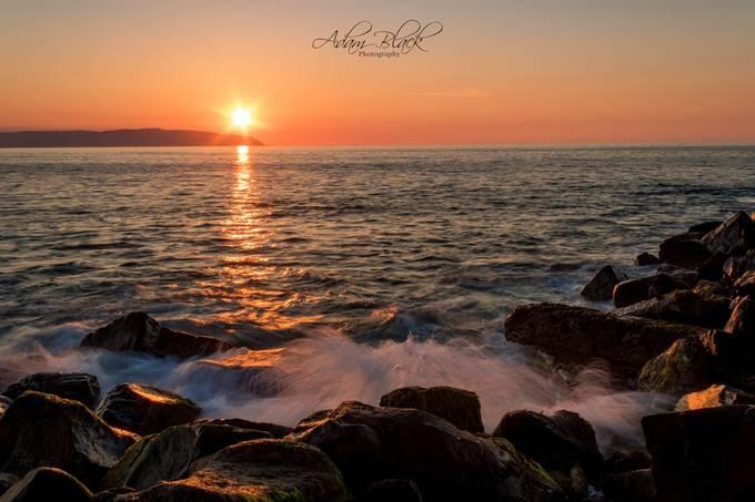 Sunset the Castlerock way