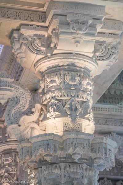 Carved marble column, Hindu Temple