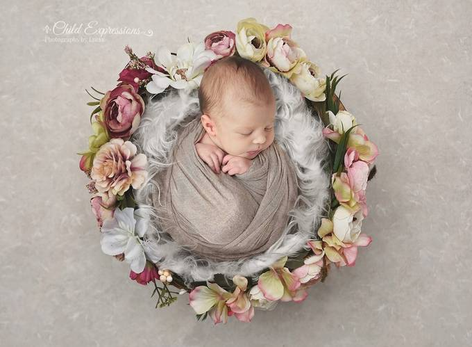 Newborn princess by Child_Expressions - Composing With Circles Photo Contest