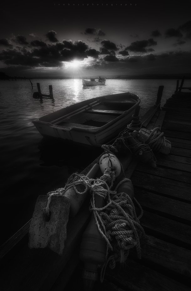 Fishing time by ivailobosev - Our World In Black And White Photo Contest