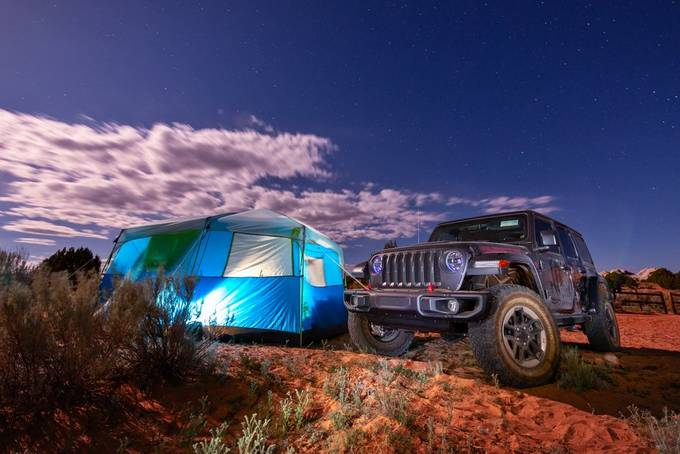 Camping in the Desert by ChasingLightLikeMad - Summer Road Trip Photo Contest