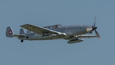 Farner Werke Schlepp ( F+W ) C-3605  ( 1942 Swiss Air force )  Duxford Air Festival 26-5-18