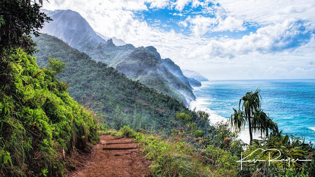 Trail to a remote beach.  Pretty muddy day. Kauai HI