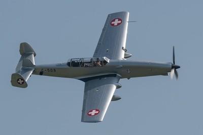Farner Werke Schlepp ( F+W ) C-3605 ( 1942 Swiss Air force )  Duxford Air Festival 26-5-18.