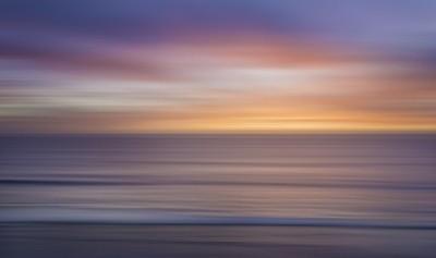 Sun and Sea Abstract Sunset